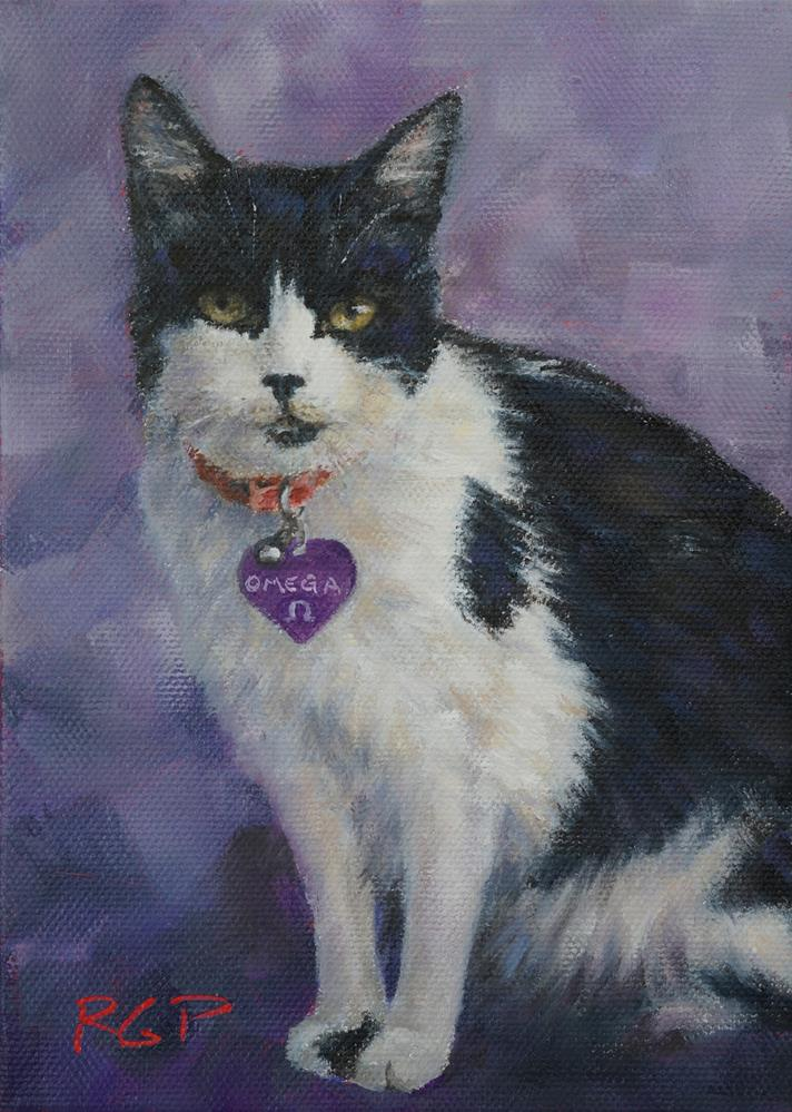 """Omega, pet portrait"" original fine art by Rhea  Groepper Pettit"