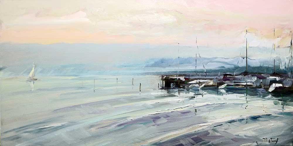 """the Sea"" original fine art by Jurij Frey"