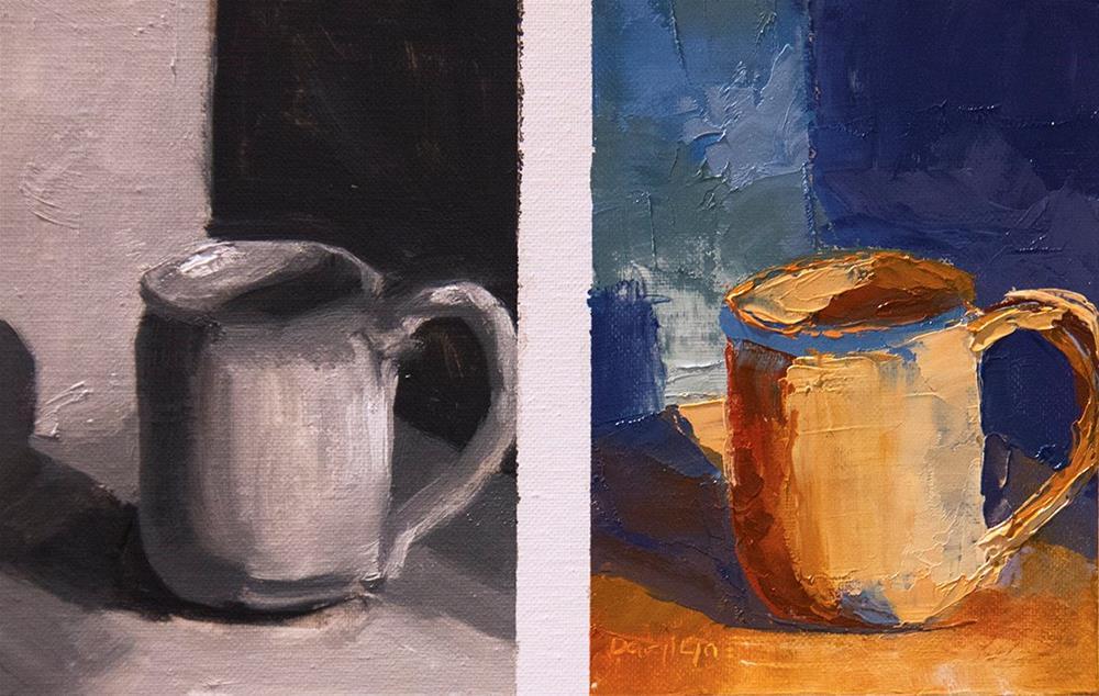 """""""Beachside Mug"""" original fine art by Daryl Lyn King"""
