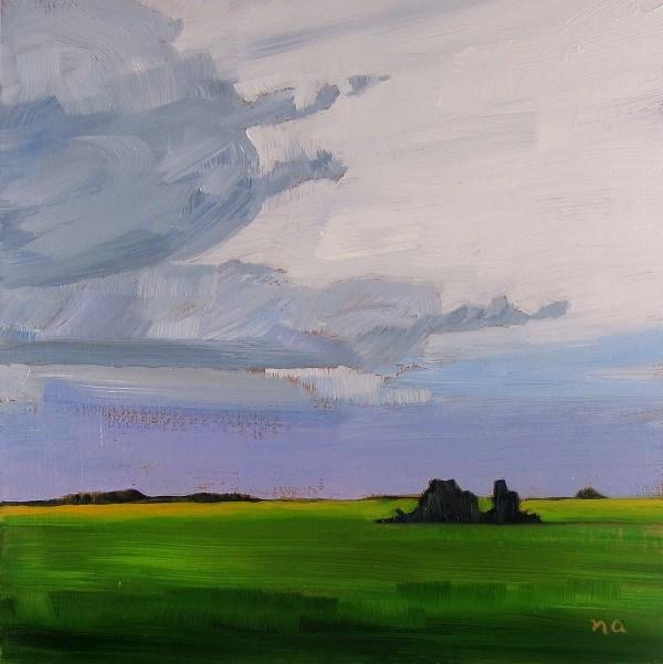 """Westerly Clouds"" original fine art by Nicki Ault"