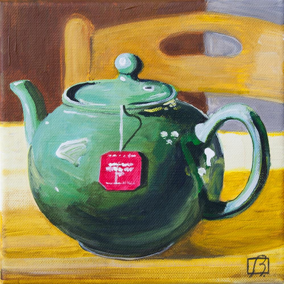 """""""Sit and Have a Cup"""" original fine art by Andre Beaulieu"""