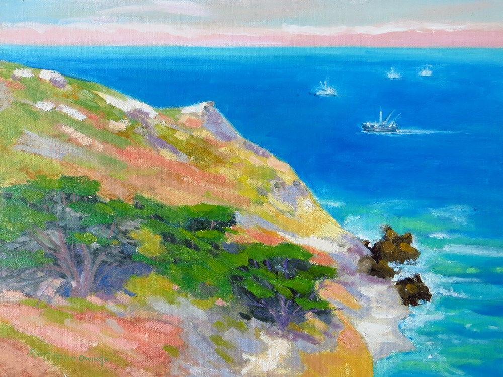 """Big Sur Overlook"" original fine art by Rhett Regina Owings"