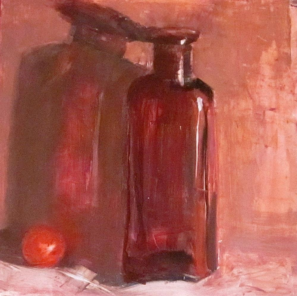 """""""Marble, Bottle and Shadow, DP #14"""" original fine art by Carol Wiley"""