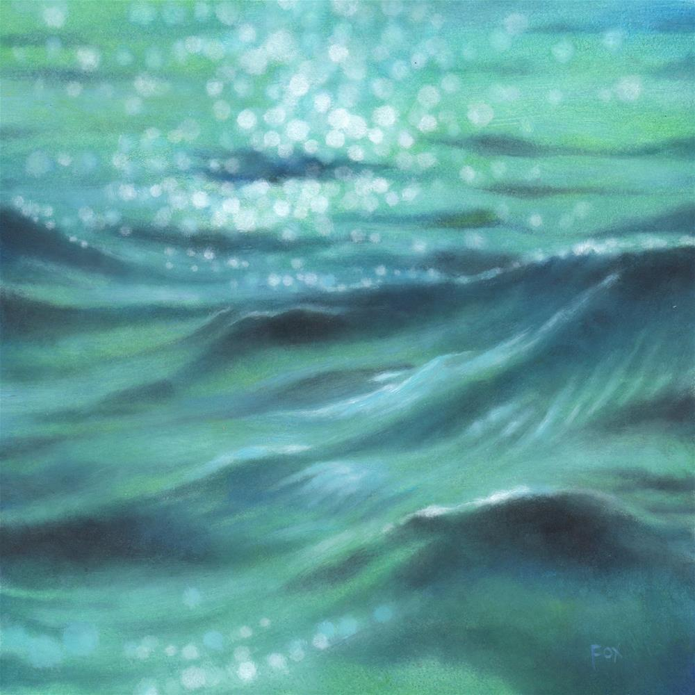 """Wave #13 (SOLD)"" original fine art by Barbara Fox"