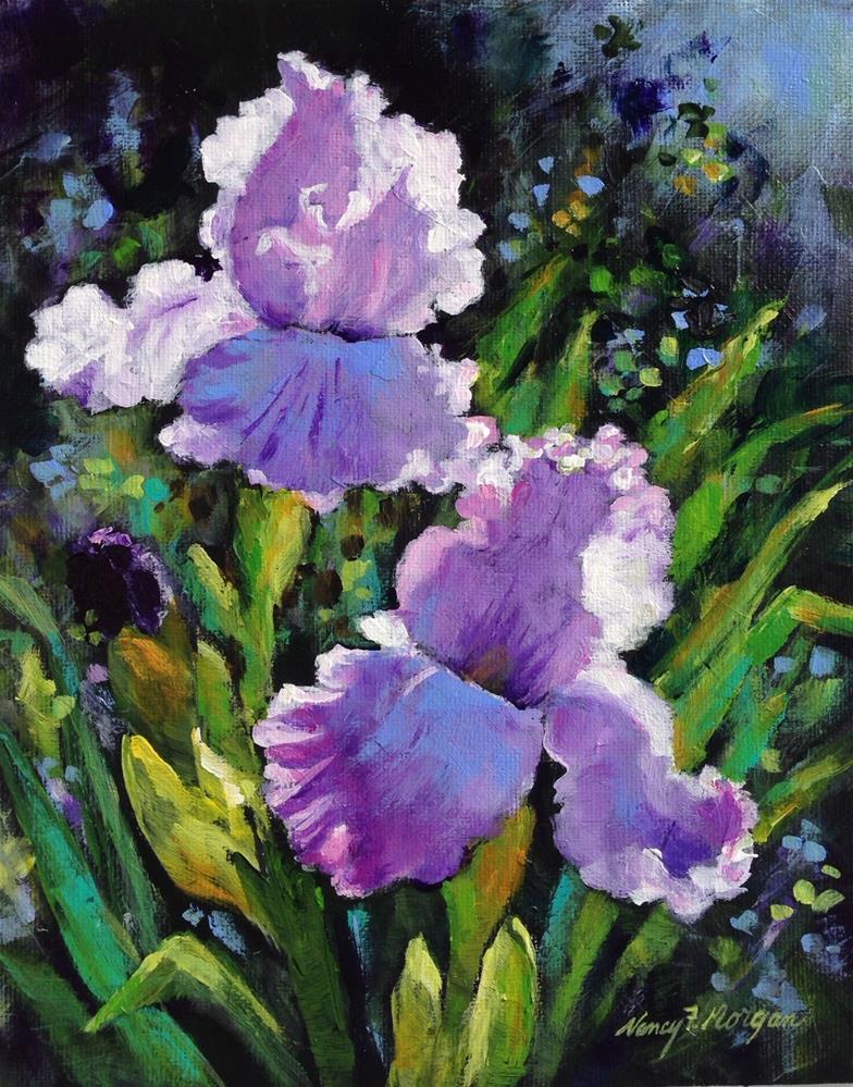 """Ruffles"" original fine art by Nancy F. Morgan"
