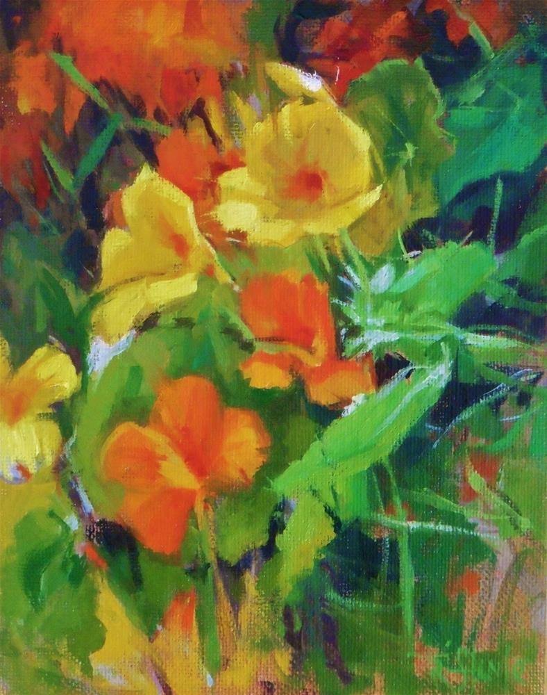 """Flowers study"" original fine art by Víctor Tristante"