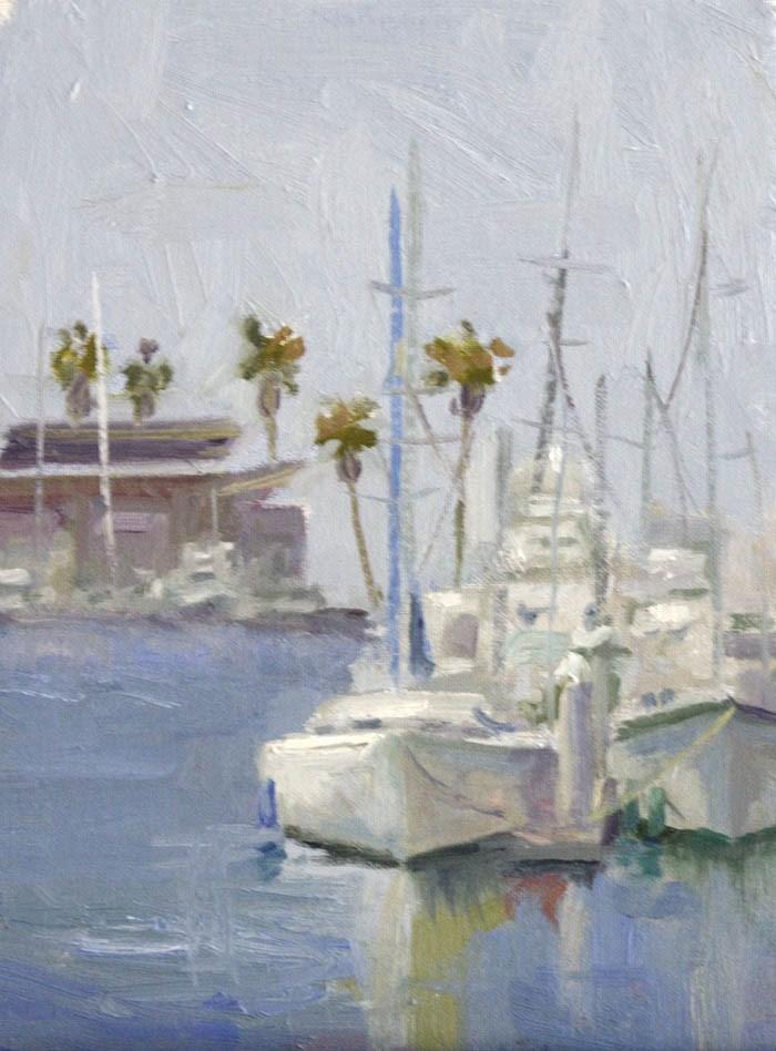 """Oceanside Harbor"" original fine art by Katharine Engh"