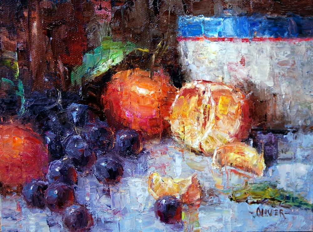 """""""Oranges and Grapes"""" original fine art by Julie Ford Oliver"""