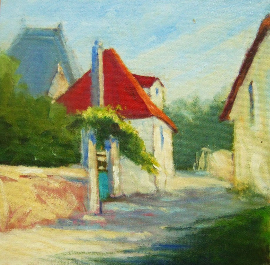 """""""French Village"""" original fine art by Connie Snipes"""