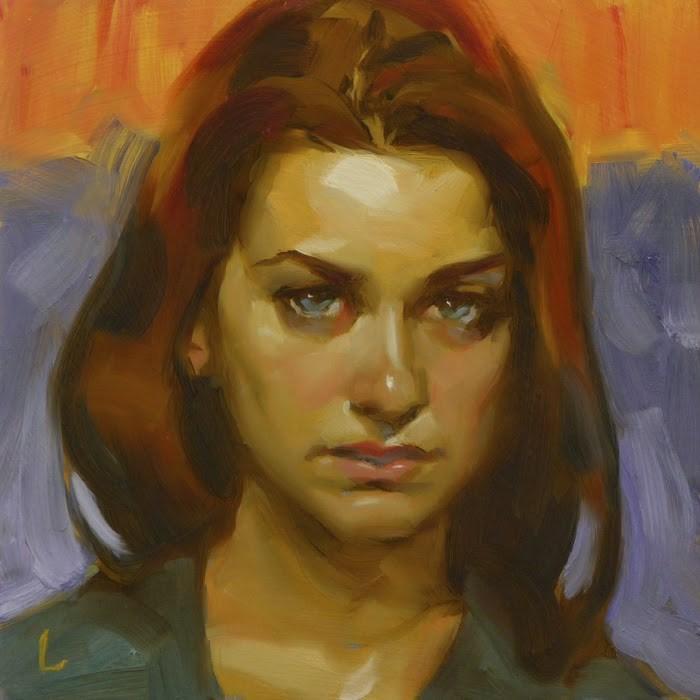 """Daggers"" original fine art by John Larriva"