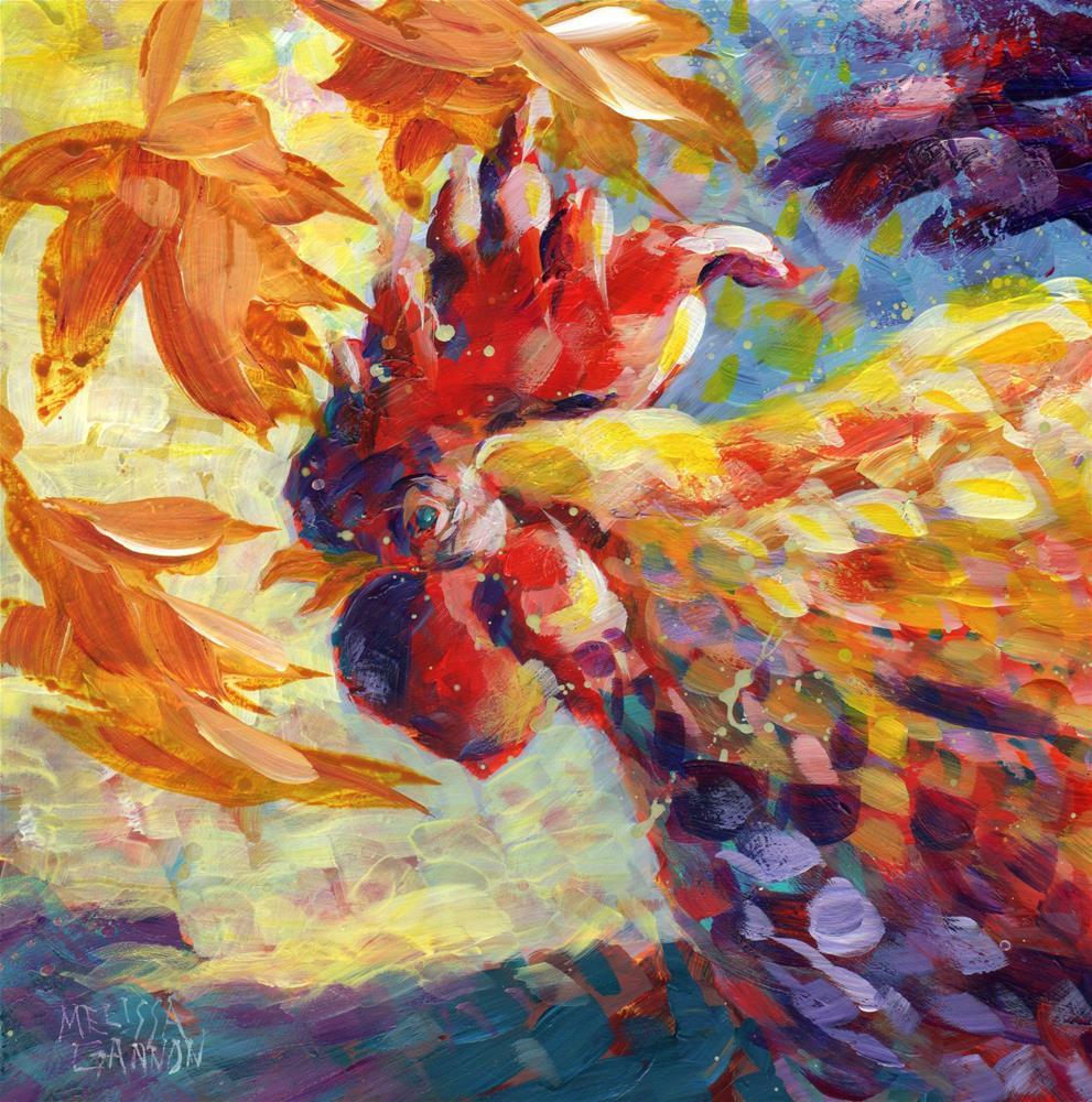 """Autumn Cluck"" original fine art by Melissa Gannon"