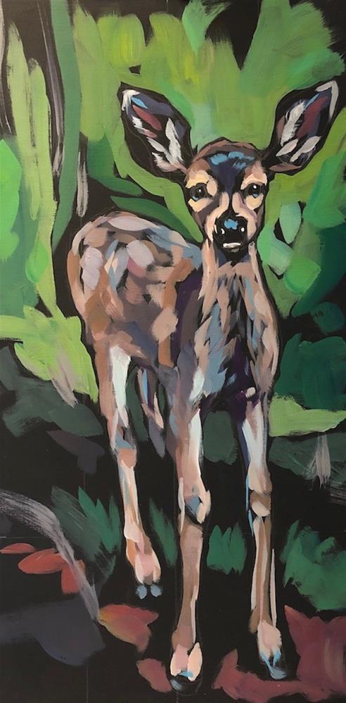 """""""Alert Ears"""" original fine art by Kat Corrigan"""