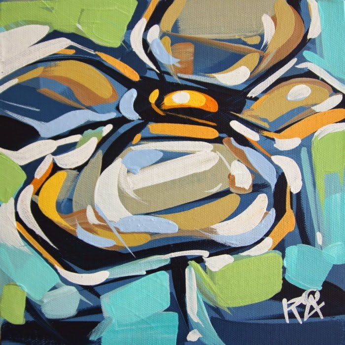 """Flower Abstraction 117"" original fine art by Roger Akesson"