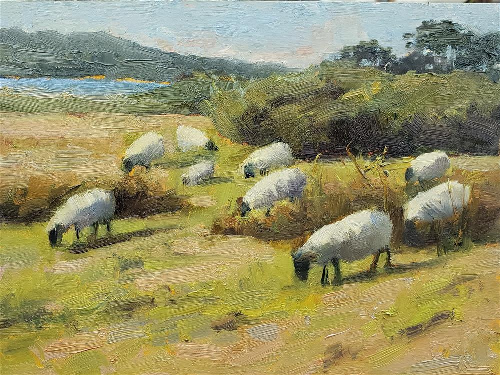 """Mission Ranch Study"" original fine art by Barbie Smith"