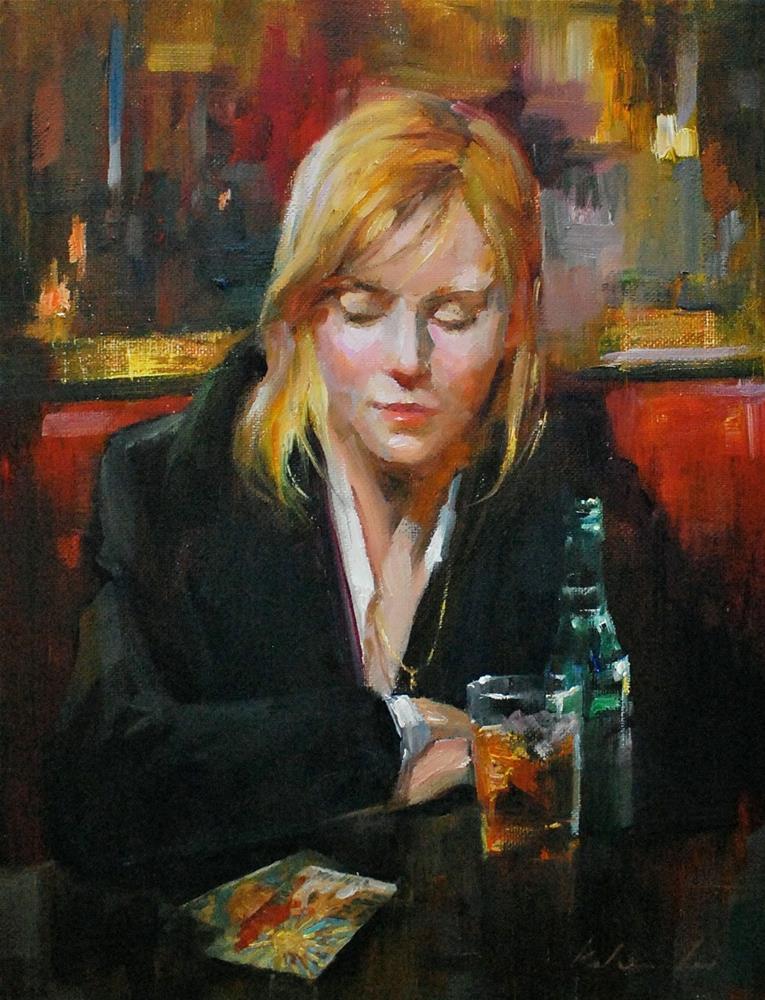 """Midnight Reading"" original fine art by Kelvin Lei"