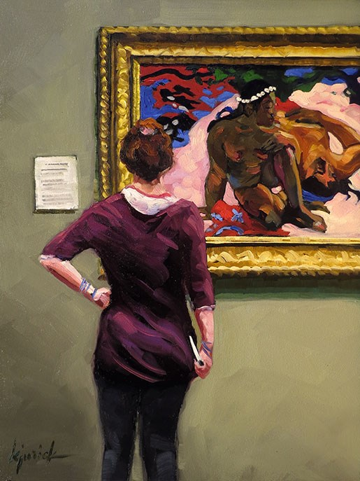 """'Gauguin' and My New Book 'A to Z'"" original fine art by Karin Jurick"