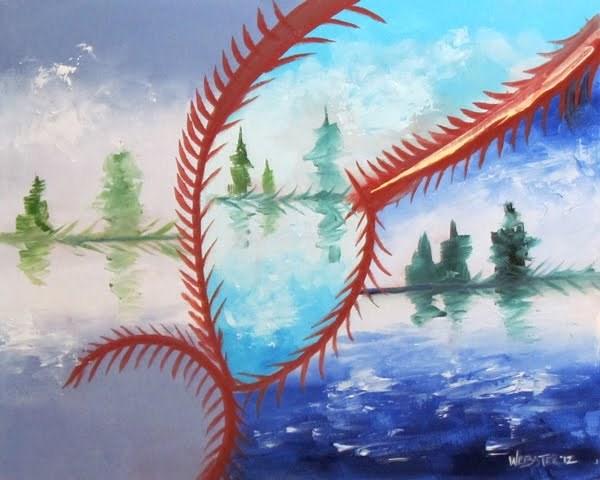 """Mark Webster - Abstraction 23 - Abstract Landscape Oil Painting"" original fine art by Mark Webster"