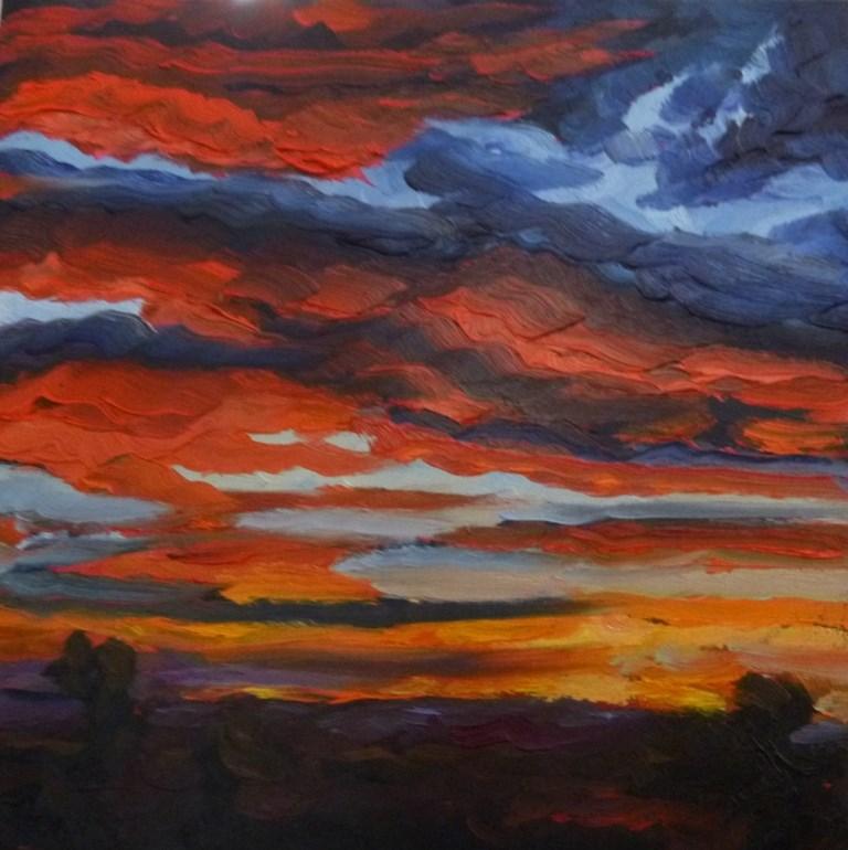 """73 SUNSET AT ELENA"" original fine art by Dee Sanchez"