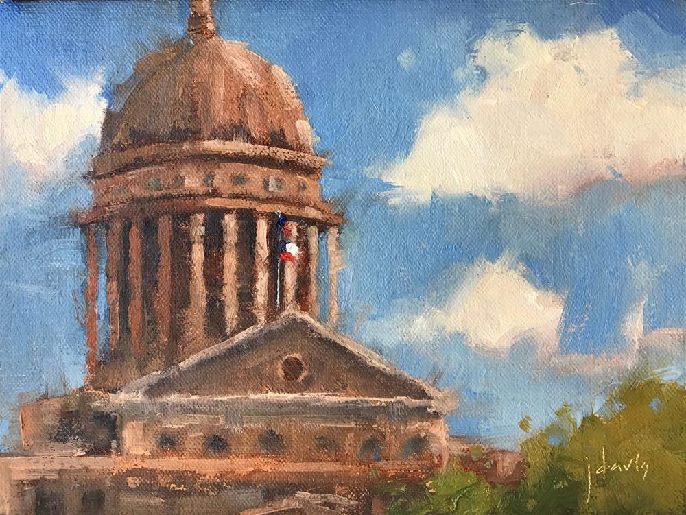 """Texas Capitol Building"" original fine art by Julie Davis"