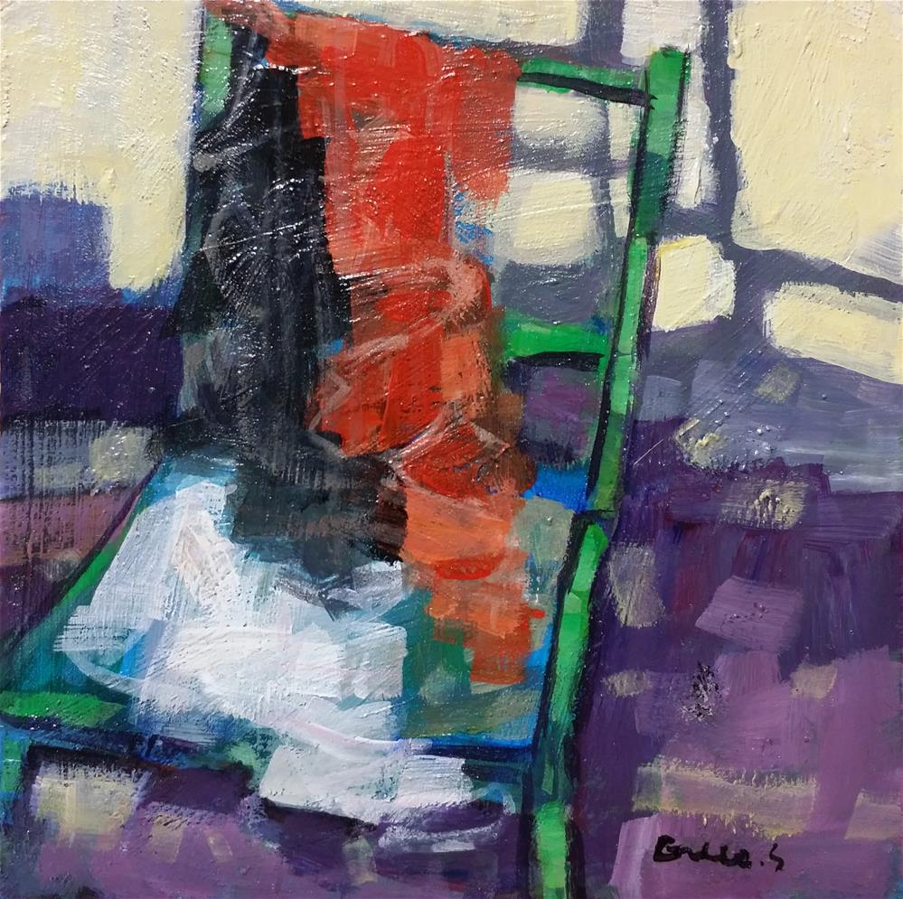 """sunlight on a chair"" original fine art by salvatore greco"