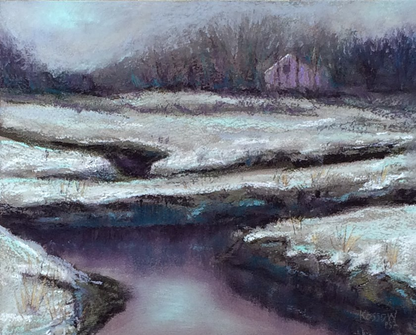 """Stratham Marsh"" original fine art by Cristine Kossow"