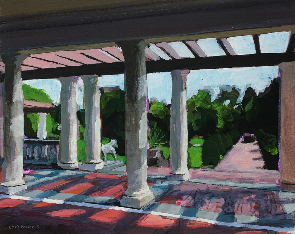 """Sonnenberg Gardens, The Belvedere"" original fine art by Chris Breier"