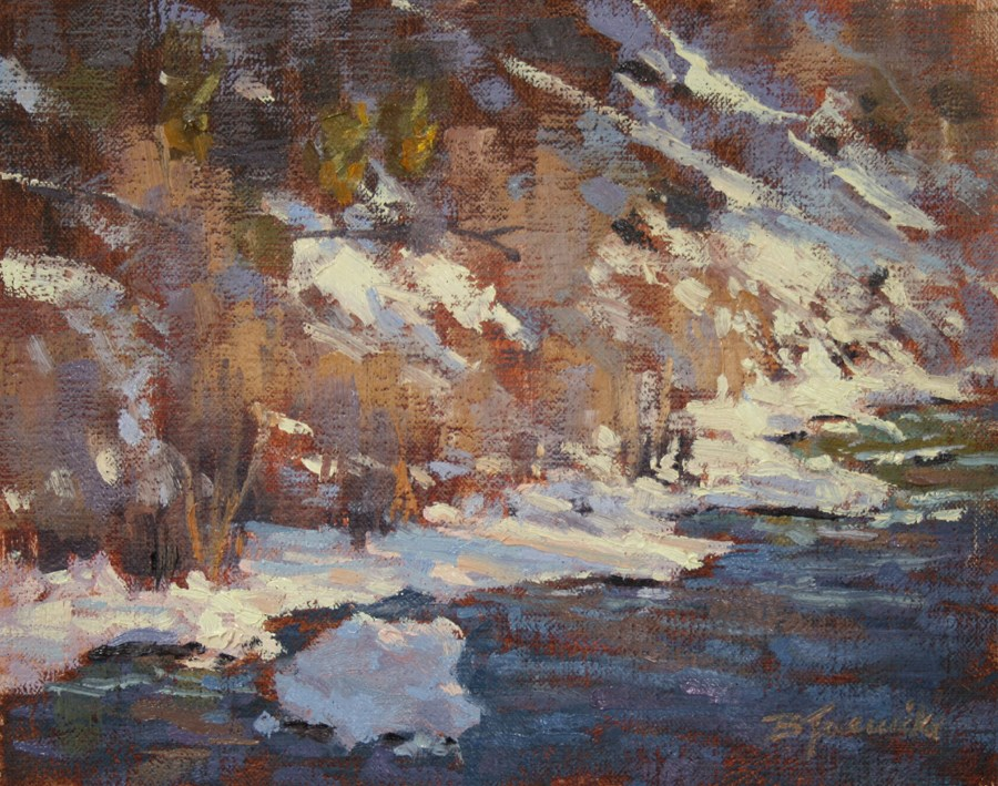 """Creekside Sparkle"" original fine art by Barbara Jaenicke"