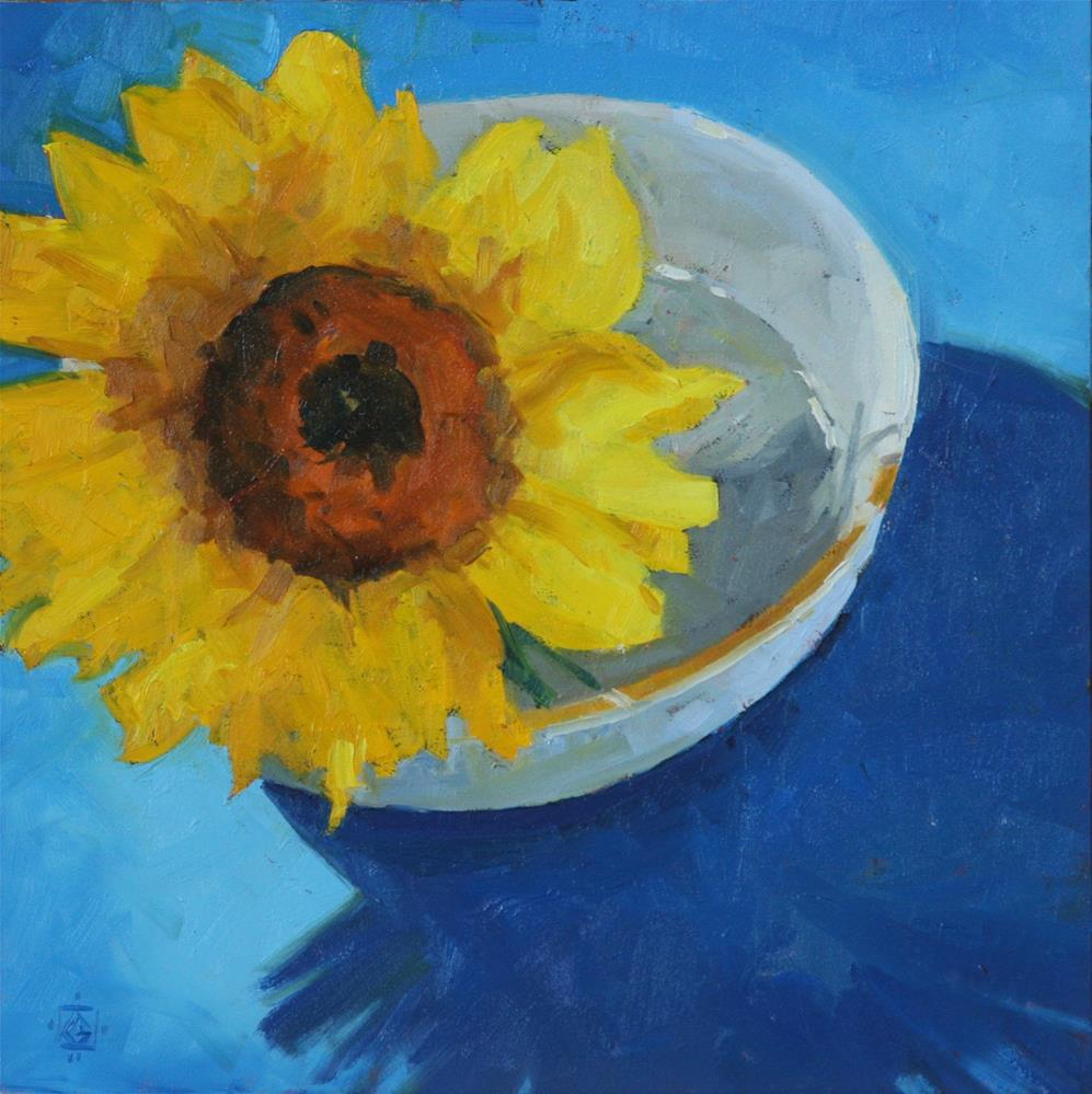 """Bowl of Sunshine"" original fine art by Carol Granger"