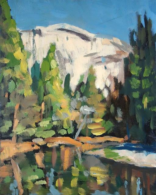 """Yosemite River"" original fine art by J. Farnsworth"