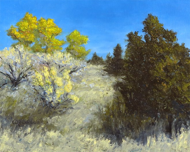 """Steep Climb"" original fine art by Carol Zirkle"