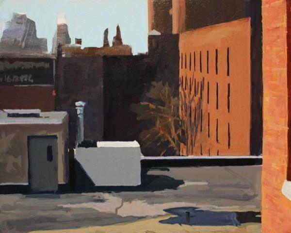 """""""Rooftops"""" original fine art by Chris Breier"""