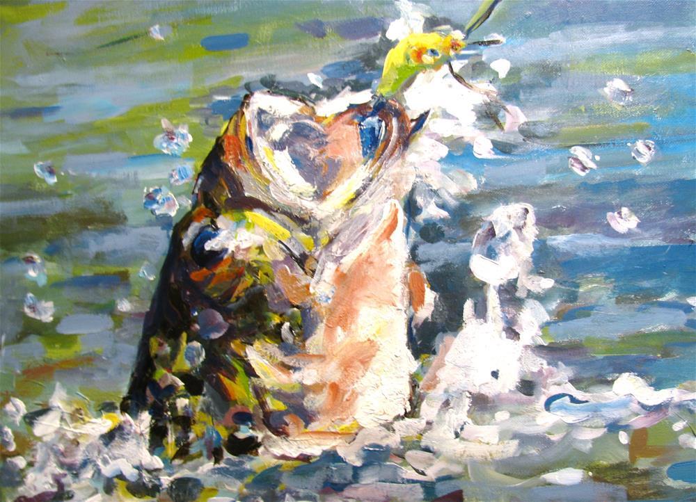 """Hooked!"" original fine art by Susan Elizabeth Jones"