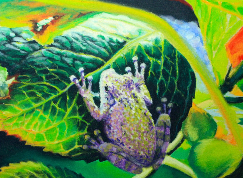 """""""Hidden"""" original fine art by Jill Bates"""