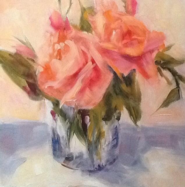 """""""Impressionistic Roses"""" original fine art by Jean Fitzgerald"""