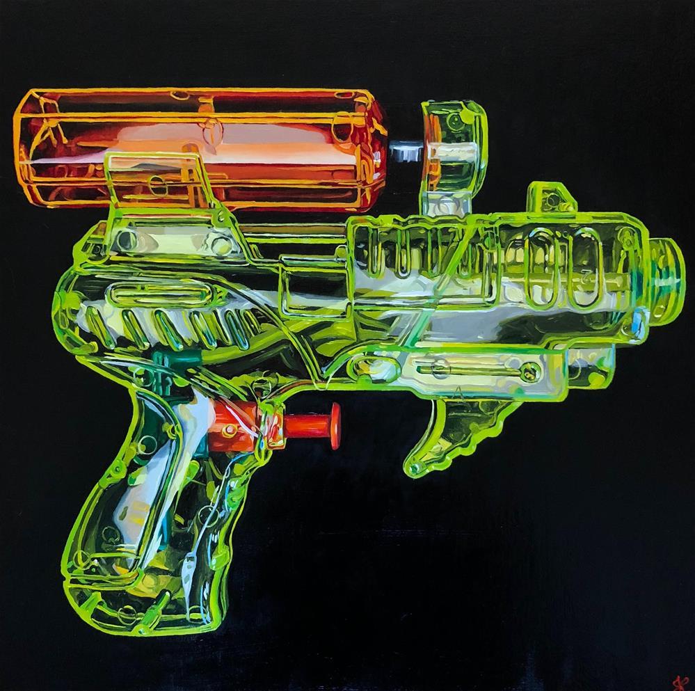 """""""Water Gangsta"""" original fine art by Jacinthe Rivard"""