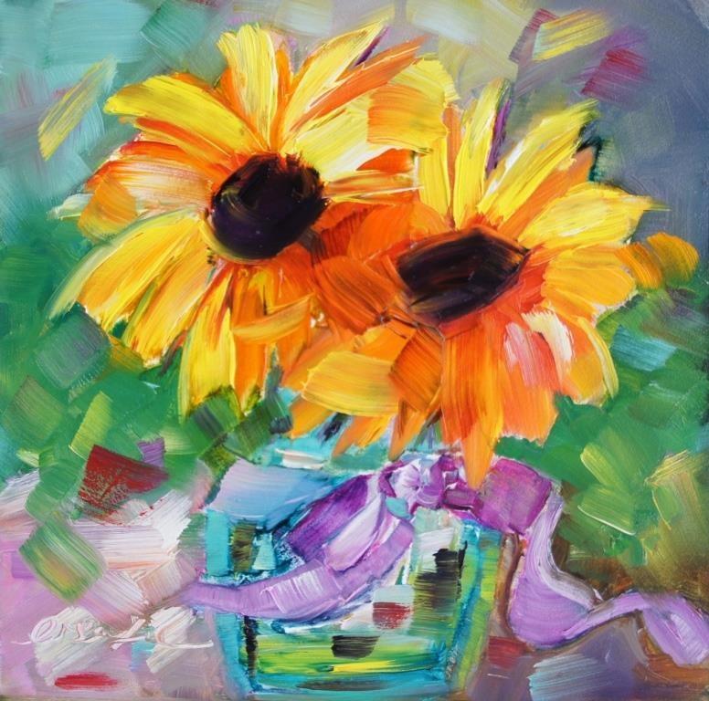 """Sunflower"" original fine art by Lisa Fu"