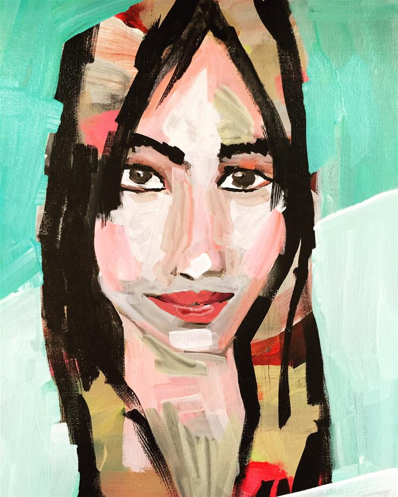 """""""134 Abstracted Kerry"""" original fine art by Jenny Doh"""