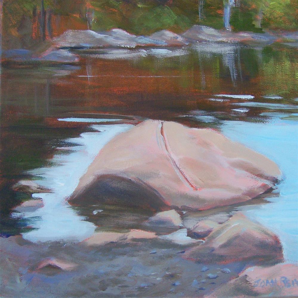 """""""Turtle Rock"""" original fine art by Joan Reive"""