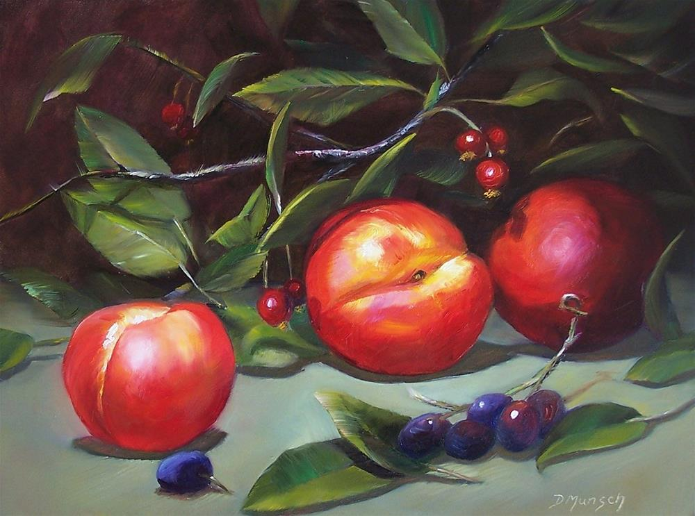 """""""Nectarines"""" original fine art by Donna Munsch"""