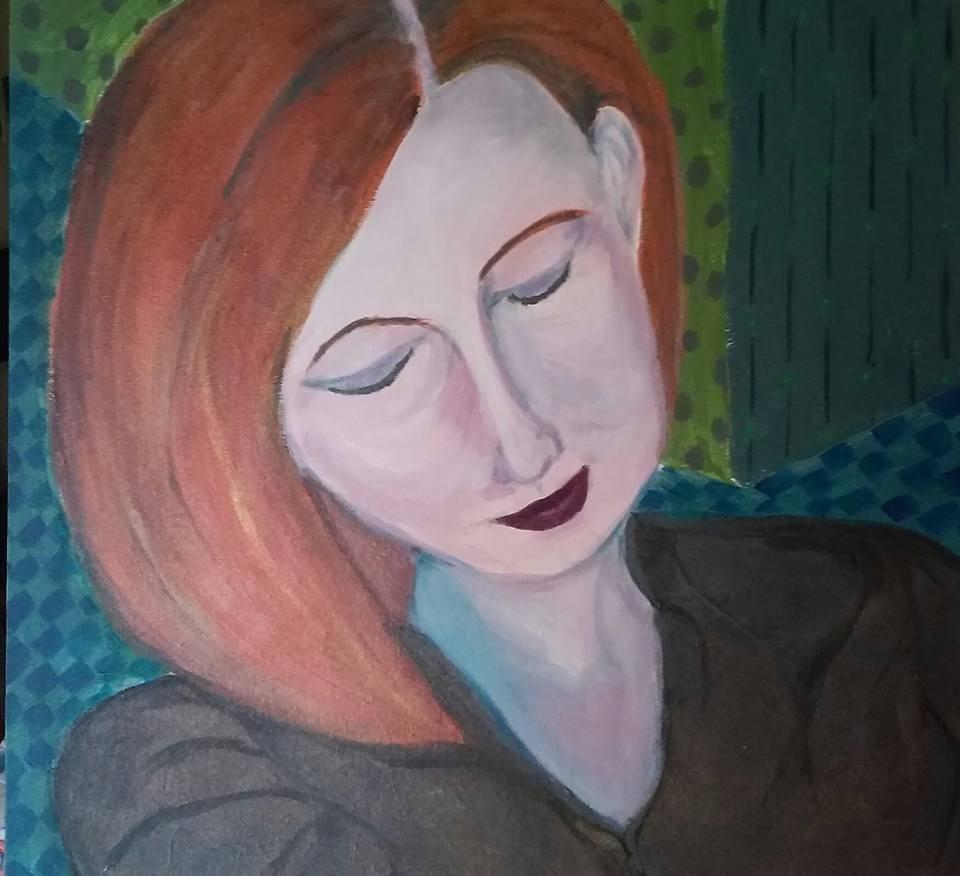 """""""Melanie"""" original fine art by Hallie Dozier"""