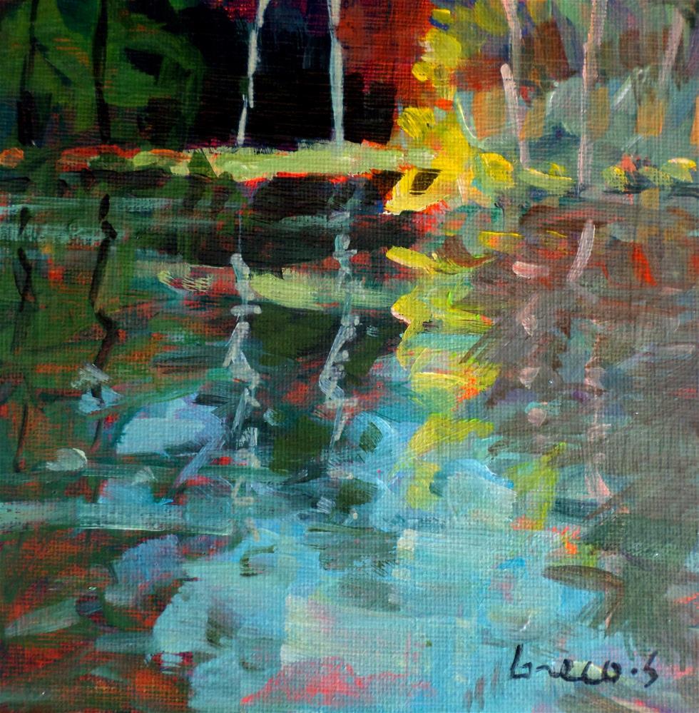 """""""REFLEXTION IN POND"""" original fine art by salvatore greco"""
