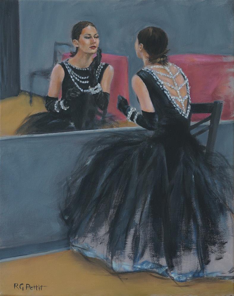 """In the Mirror"" original fine art by Rhea  Groepper Pettit"