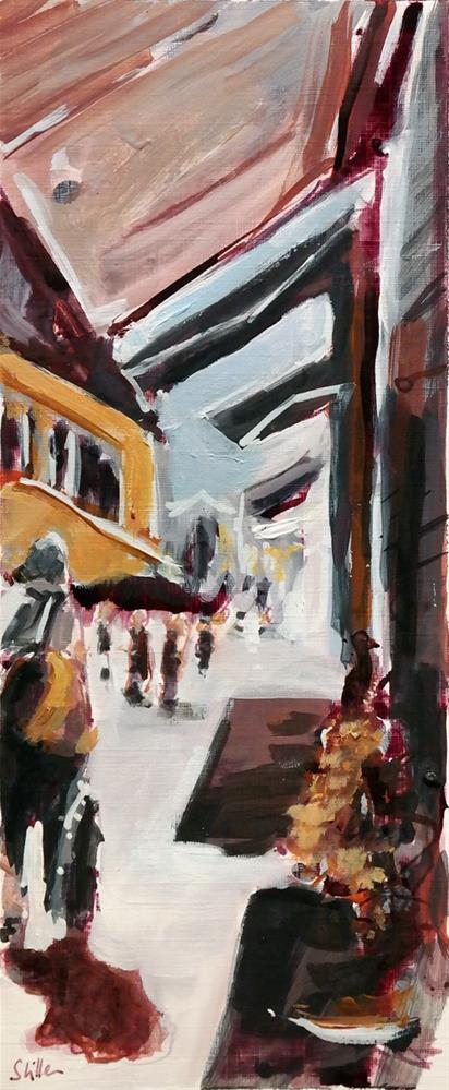 """2453 Awnings"" original fine art by Dietmar Stiller"