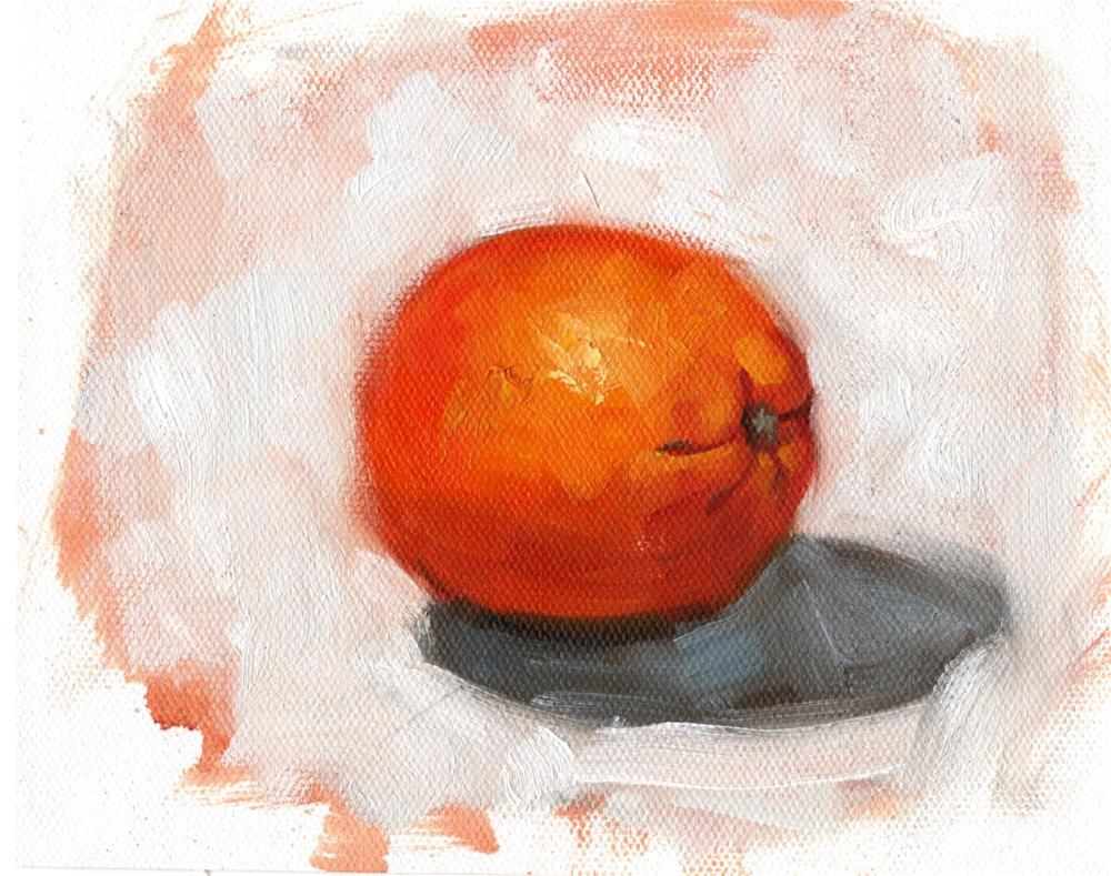 """Orange Study 2019"" original fine art by Marlene Lee"