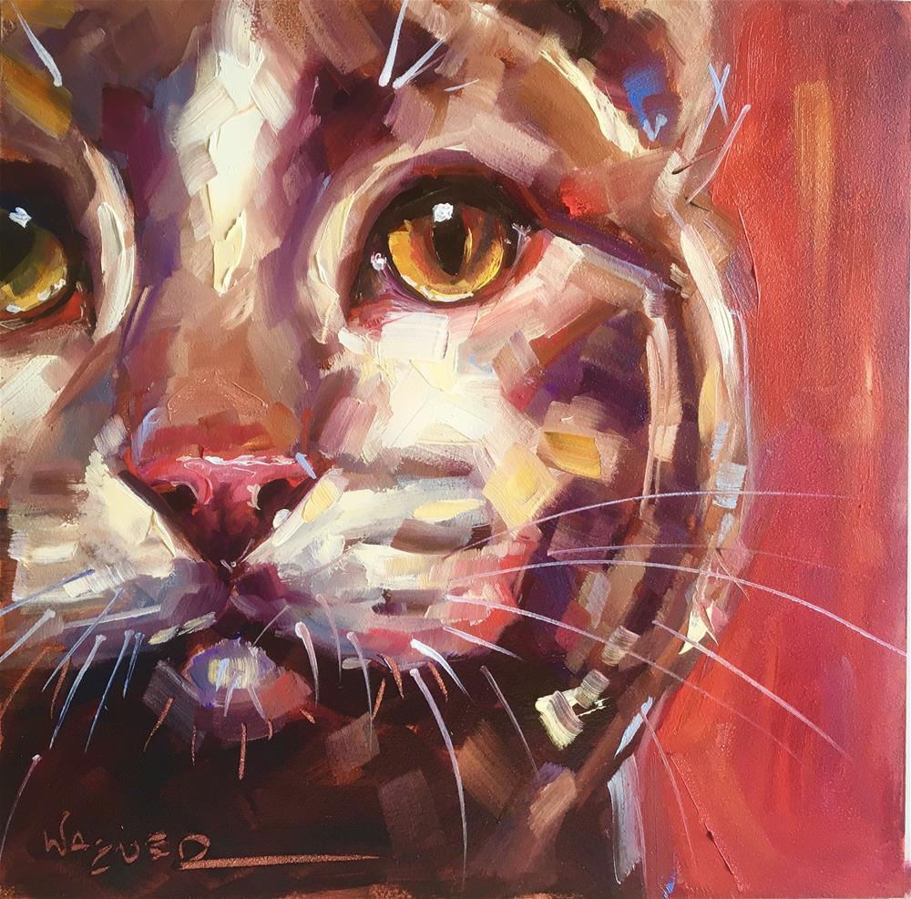 """Eye See You"" original fine art by Olga Wagner"