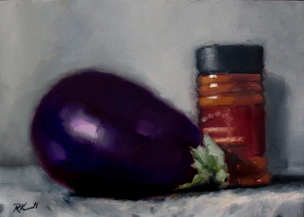"""Eggplant and Seasoning"" original fine art by Bob Kimball"