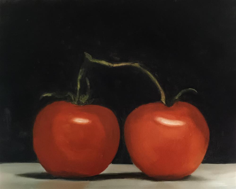"""Tomatoes"" original fine art by James Coates"