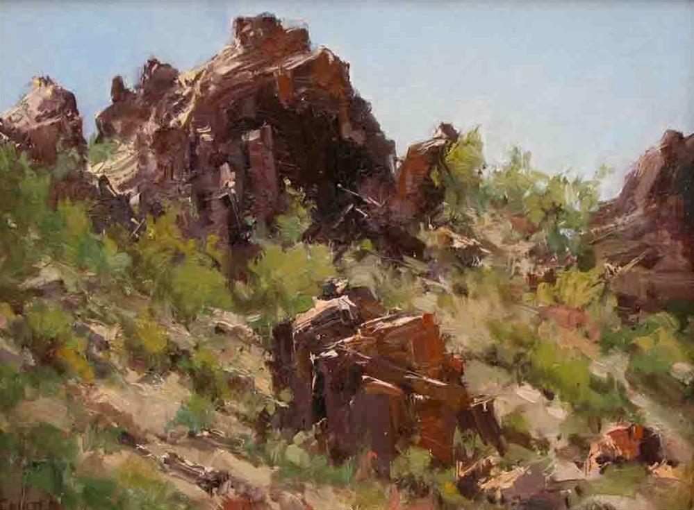 """DESERT ROCKS"" original fine art by James Coulter"