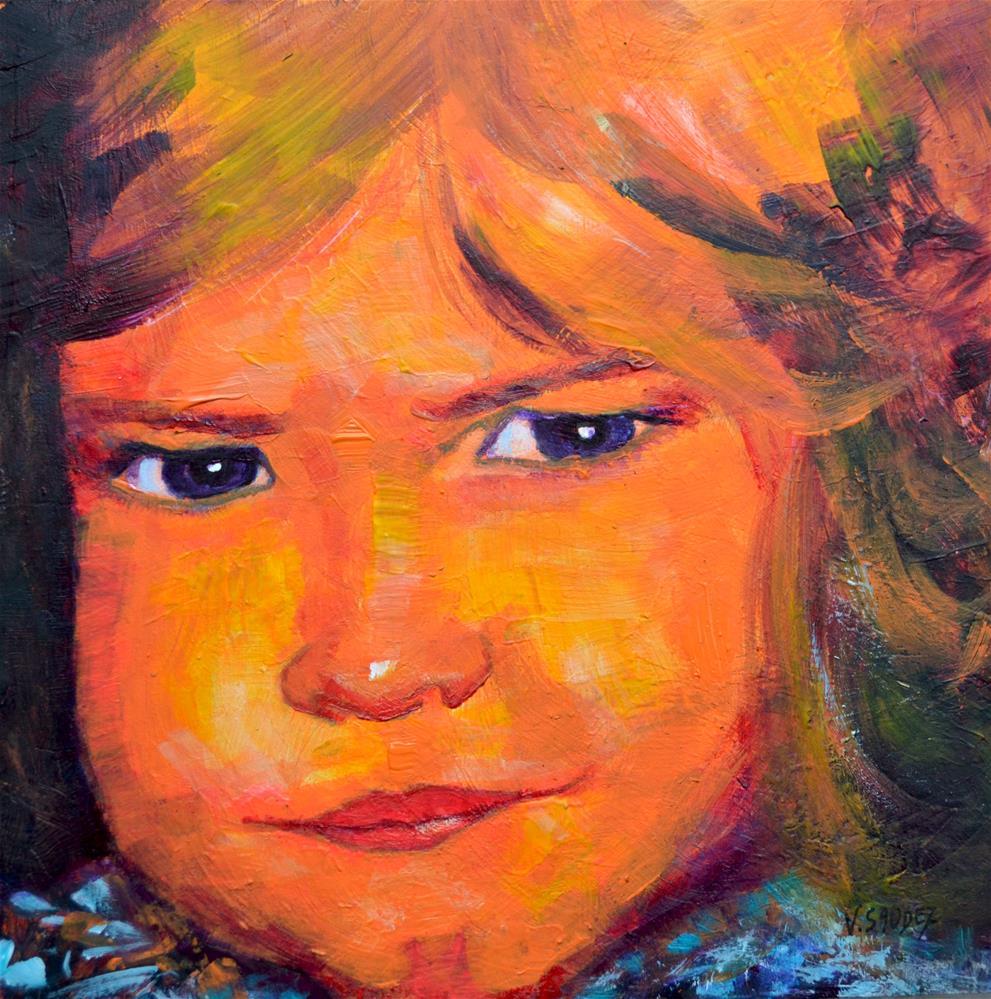 """""""Lola"""" original fine art by Véronique Saudez"""