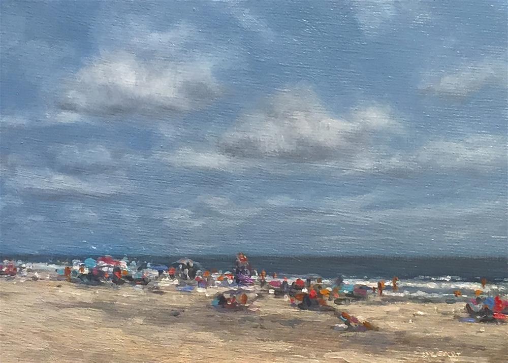 """Nice Beach day"" original fine art by Danny O'Leary"